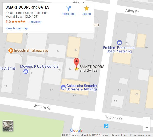 Google map of Smart Doors and Gates