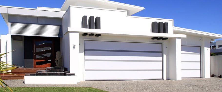 Insulated garage doors on the Sunshine Coast.